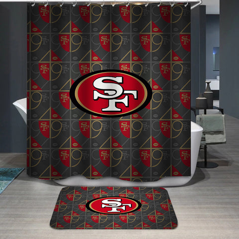 San Francisco 49ers Logo Custom Shower Curtain