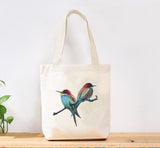 Bee Hummingbird Custom Canvas Tote Bag