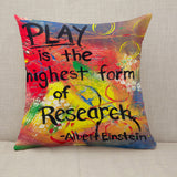 Albert Einstein Throw Pillow Cushion Cover [Fillings Included]