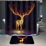Animal Deer Printed Custom Shower Curtain