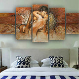 Abstract Vintage Sexy Lover - 5 Piece Canvas Wall Art