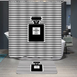 Chanel Number 5 Perfume Bottle Custom Shower Curtain