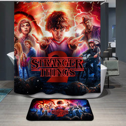 Stranger Things Custom Printing Shower Curtain