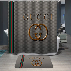 Gucci Logo Custom Shower Curtain