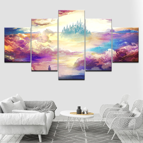Colorful Clouds - 5 Piece Canvas Wall Art – itdayshop