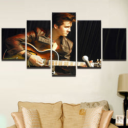 Elvis Guitar Music - 5 Piece Canvas Wall Art