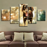 Animal Dog - 5 Piece Canvas Wall Art