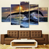 Seaview Tail Of The Fish - 5 Piece Canvas Wall Art