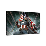 Captain America Poster 1 Piece Canvas Wall Art