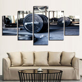 Weightlifting Sports Gym Fitness - 5 Piece Canvas Wall Art