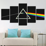 Rock Music Band Pink Floyd - 5 Piece Canvas Wall Art
