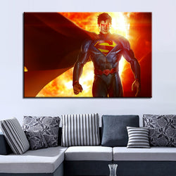 Abstract Superman Canvas 1 Piece Canvas Wall Art