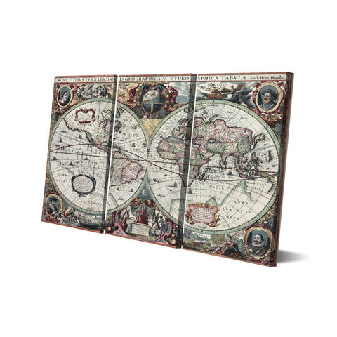 Ancient world map 3 piece canvas wall art itdayshop ancient world map 3 piece canvas wall art gumiabroncs Gallery