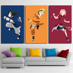 Naruto Sasuke Sakura - 3 Piece Canvas Wall Art