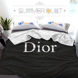 Luxury Dior Logo Custom Printed Summer Quilt Blanket