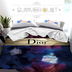 Miss Dior Perfume Bottle Custom Printed Summer Quilt Blanket