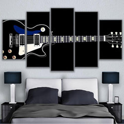 Music Instrument Guitar - 5 Piece Canvas Wall Art