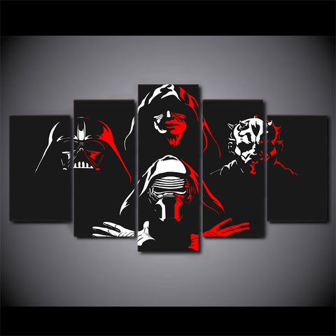 Movie Star Wars Character - 5 Piece Canvas Wall Art