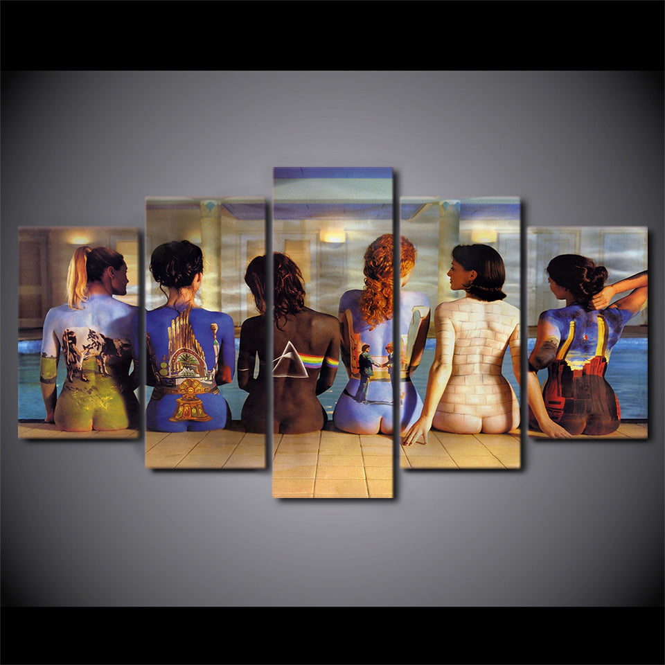 Pink Floyd Women Back Figures 5 Piece Canvas Wall Art