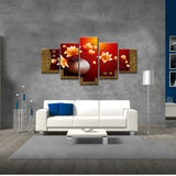 Beautiful Flowers - 5 Piece Canvas Wall Art