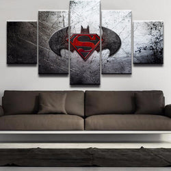 Batman & Superman - 5 Piece Canvas Wall Art