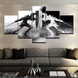 The Legend of Zelda Black and White - 5 Piece Canvas Wall Art