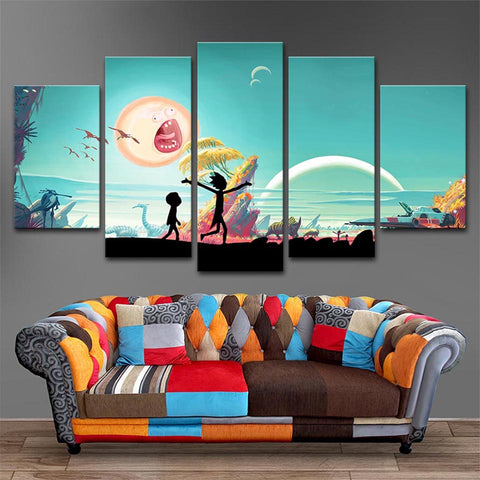 Rick And Morty #7 - 5 Piece Canvas Wall Art & Rick And Morty #7 - 5 Piece Canvas Wall Art u2013 itdayshop