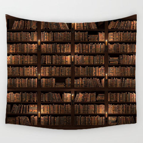 Ancient Library Custom Printing Tapestry