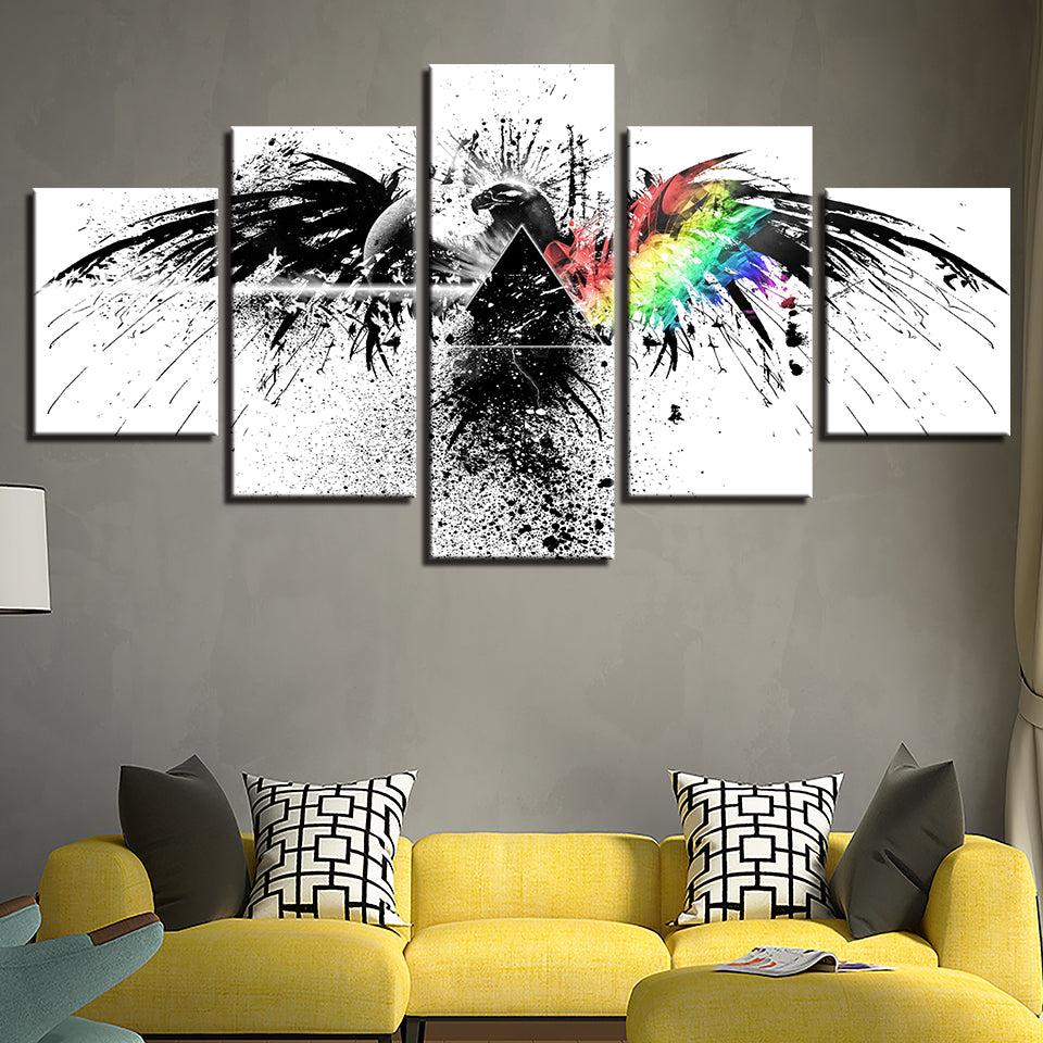 Pink Floyd Eagle Abstract 5 Piece Canvas Wall Art