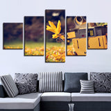 Walle Autumn Yellow Leaves Scenery - 5 Piece Canvas Wall Art