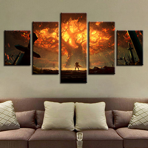 Game World of Warcraft Character - 5 Piece Canvas Wall Art – itdayshop