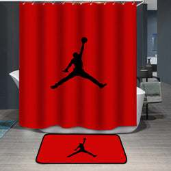 Jordan Logo Custom Printing Shower Curtain