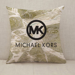 Michael Kors MK Logo Throw Pillow Cushion Cover [Fillings Included]