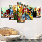 Anime One Piece Characters - 5 Piece Canvas Wall Art