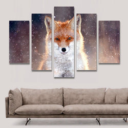 Fox - 5 Piece Canvas Wall Art