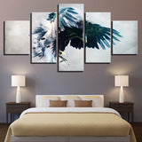 Abstract Eagle - 5 Piece Canvas Wall Art