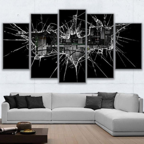 Batman Black - 5 Piece Canvas Wall Art