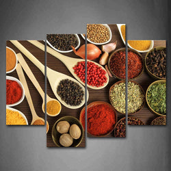 Couful Spice Gather In Table - 4 Piece Canvas Wall Art