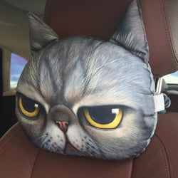 Grumpy Dog Cat Face Throw Pillow Cushion Pillow Plush