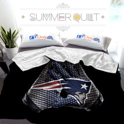 NFL New England patriots Gloves Custom Printed Summer Quilt Blanket