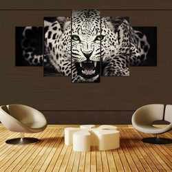 The Leopard - 5 Piece Canvas Wall Art