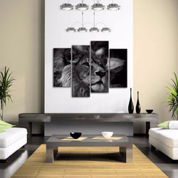 Lion - 4 Piece Canvas Wall Art