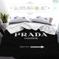Luxury Prada Logo Custom Printed Summer Quilt Blanket