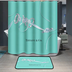 Tiffany & Co. Logo Custom Shower Curtain