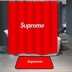 Supreme Logo Custom Printing Shower Curtain