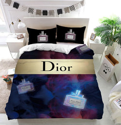 Miss Dior Perfume Bottle Custom Bedding Set Duvet Cover