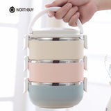 Stainless Steel Food Bento Box - Portable Picnic School LunchBox For Kids