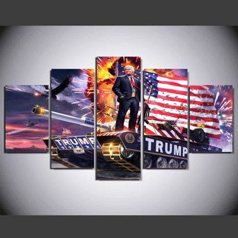 American Donald Trump - 5 Piece Canvas Wall Art