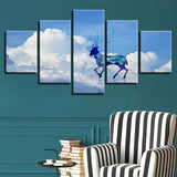 Cloud Deer - 5 Piece Canvas Wall Art