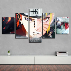 Naruto #5 - 5 Piece Canvas Wall Art